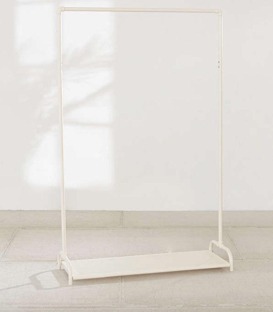Urban Outfitters Clothing Rack. Maybe you're a minimalist, or sell your items online. If that's the case, invest in a clothing rack like this. It allows clothes to have a space while still being visible.
