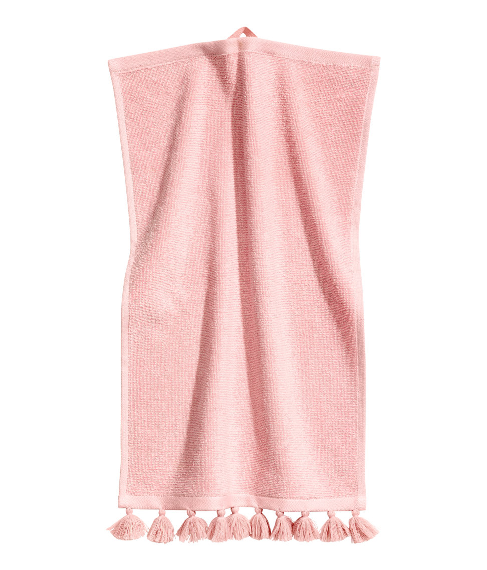 H&M Home Towel. I thought this town was so cool especially with the tassels.