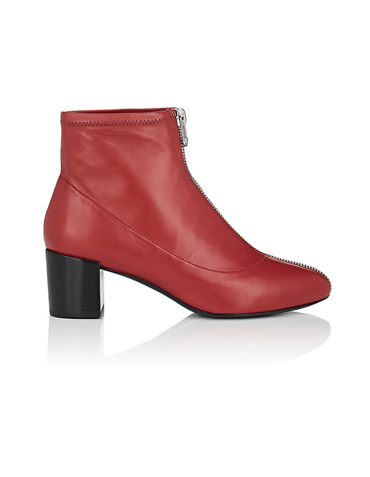 STELLA LUNA WOMEN'S ZIPPER-DETAILED LEATHER ANKLE BOOTS