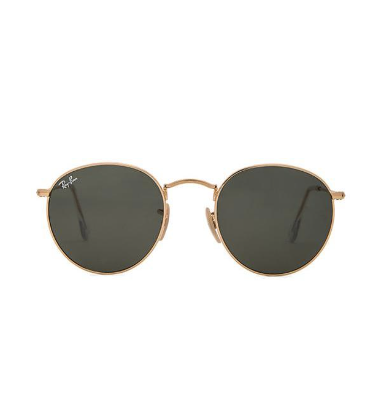 RAY-BAN ROUND METAL IN METALLIC GOLD.