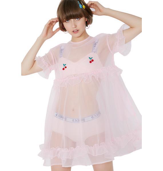 Lazy Oaf Sheer Cherry Dress