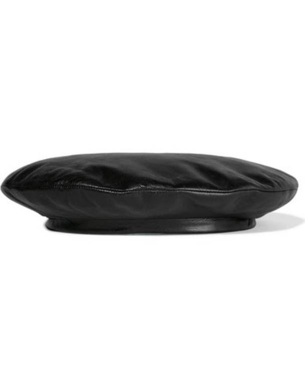 GUCCI LEATHER BERET -
