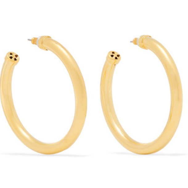 Kenneth Jay Lane Gold-Tone Hoop Earrings - $65