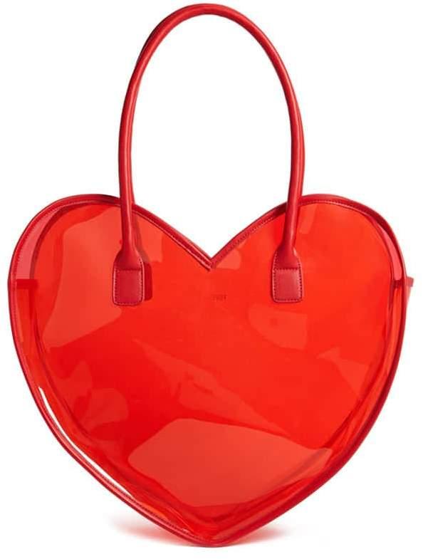 FOREVER 21 Vinyl Heart Tote Bag $17.90