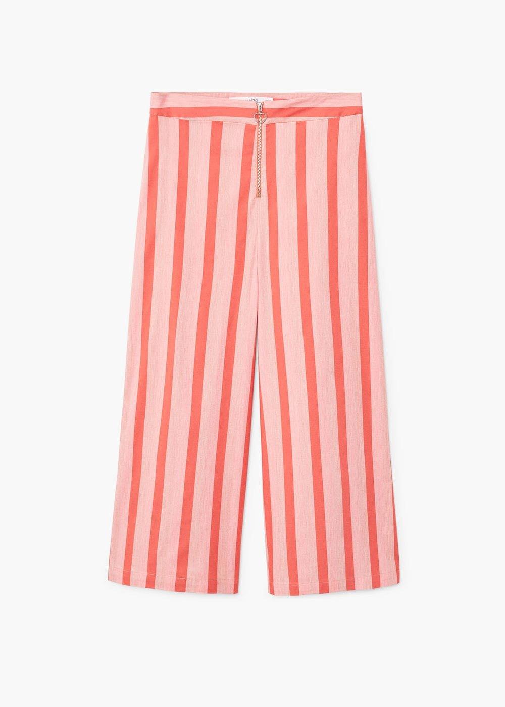 MANGO Striped crop trousers $79.99