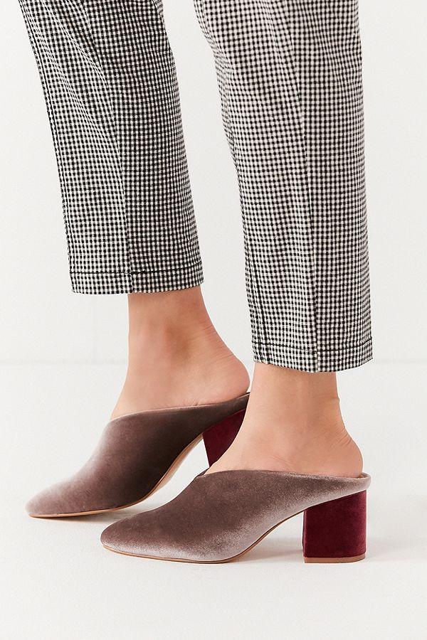 Urban Outfitters Isla Velvet Mule Heel $39.99