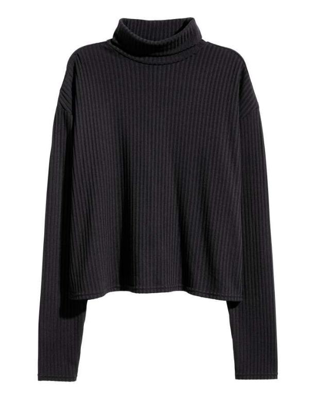 H&M Ribbed Turtleneck Sweater $12.99