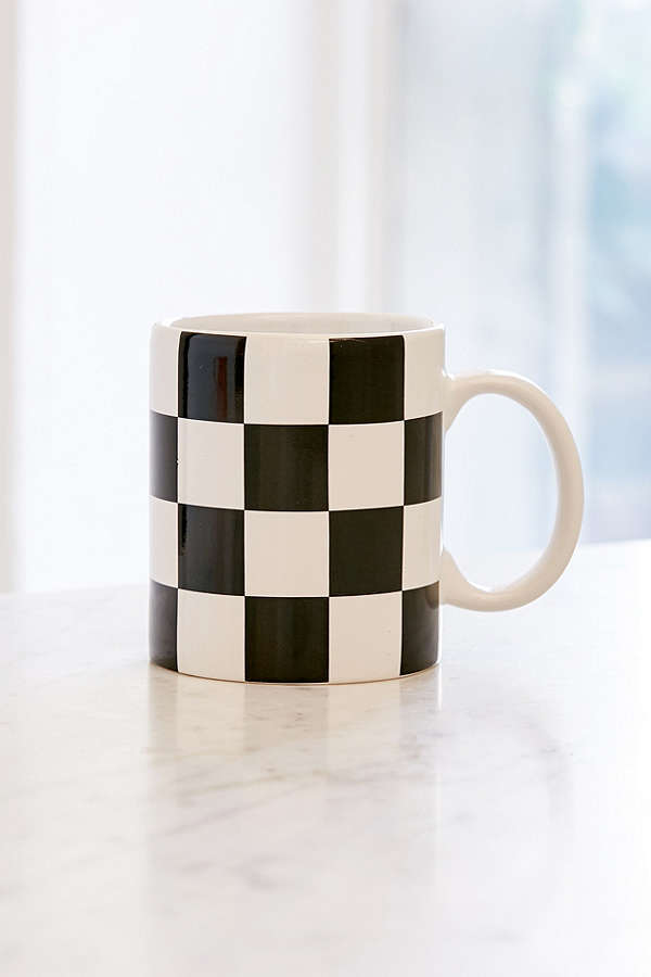 Urban Outfitters Checker Mug $10