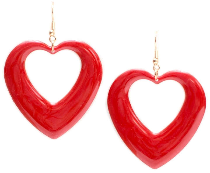 New Fashion Cutout Heart Earrings $8