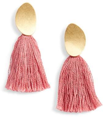 Madewell Curved Tassel Earrings $28