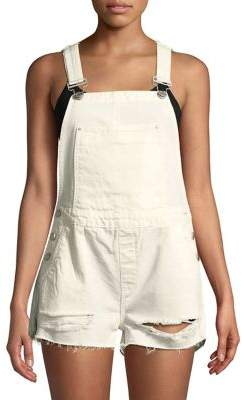 BLANKNYC Distressed Denim Shortalls