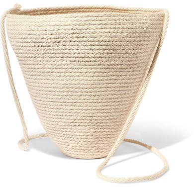 Catzorange Woven Cotton Bucket Bag