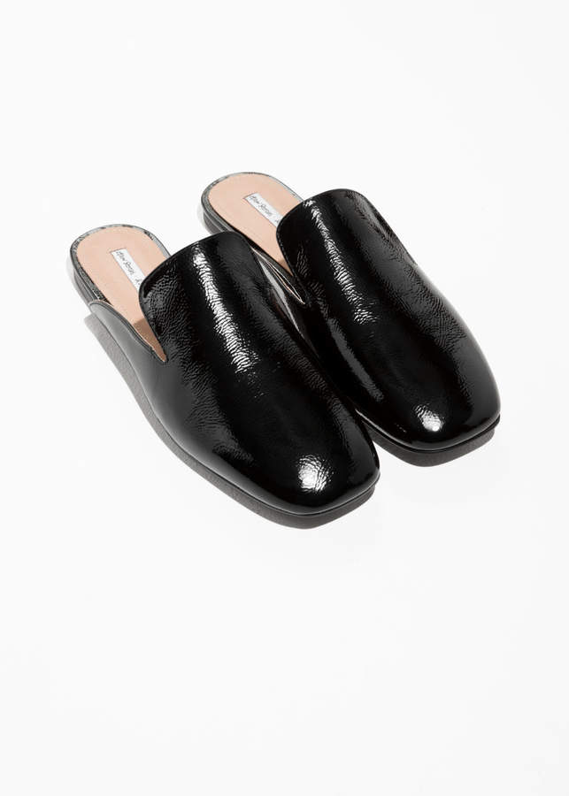 & Other Stories Patent Leather Slip-Ons
