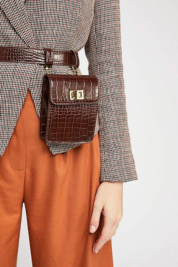 Free People Crocodile Belt Bag