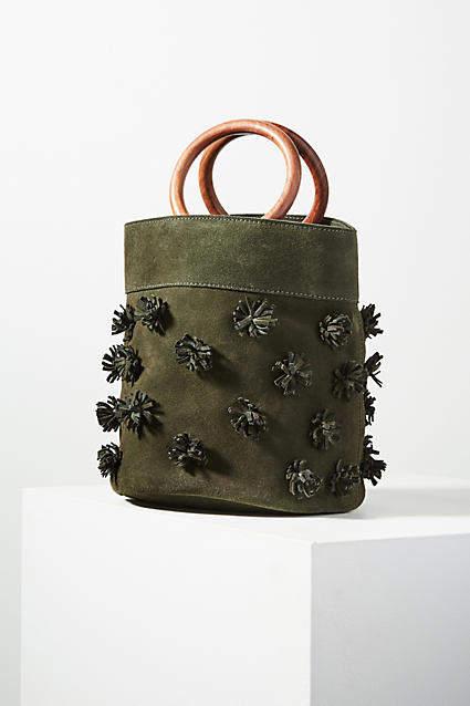 Anthropologie Alana Pommed Bucket Bag