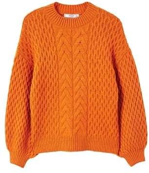 Mango Cable-knit oversize sweater
