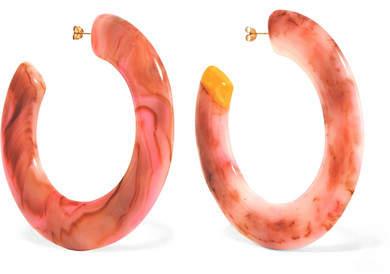 Cult Gaia Kennedy Resin Hoop Earrings