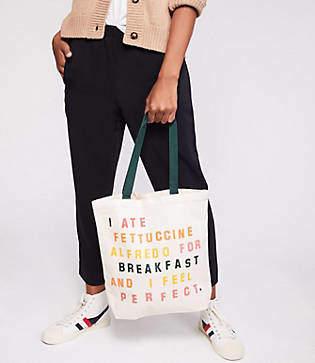 Lou & Grey Katie Kimmel I Ate Fettuccine Tote Bag