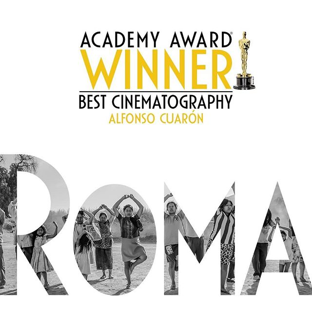 Congratulations, @romacuaron on your first Oscar of the evening!