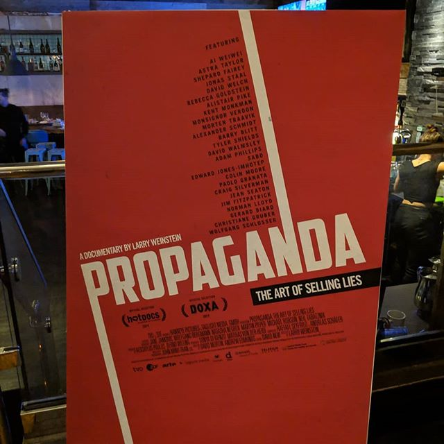 Thanks to everyone who joined us last night for the World Premiere of Larry Weinstein's PROPAGANDA: THE ART OF SELLING LIES at the Hot Docs! Congratulations to the filmmakers on a great evening!