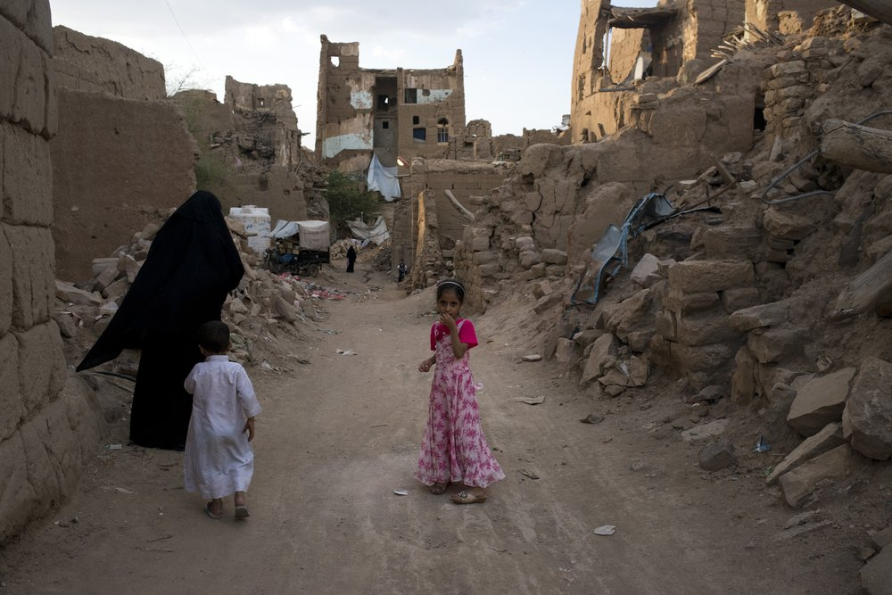 Young Yemeni Girl in Demolished City