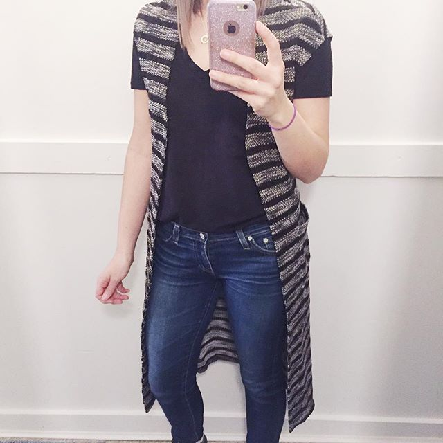 When spring arrives early, we try on!! This NEW vest will be a perfect transitional piece into the spring . Throw it over a light turtleneck layer now, or wear with a tee + jeans later on. PS- this is from Tribal's spring collection, and we have lots more in store!  #fashion #vest #ootd #layers #transition #springfashion #spring17