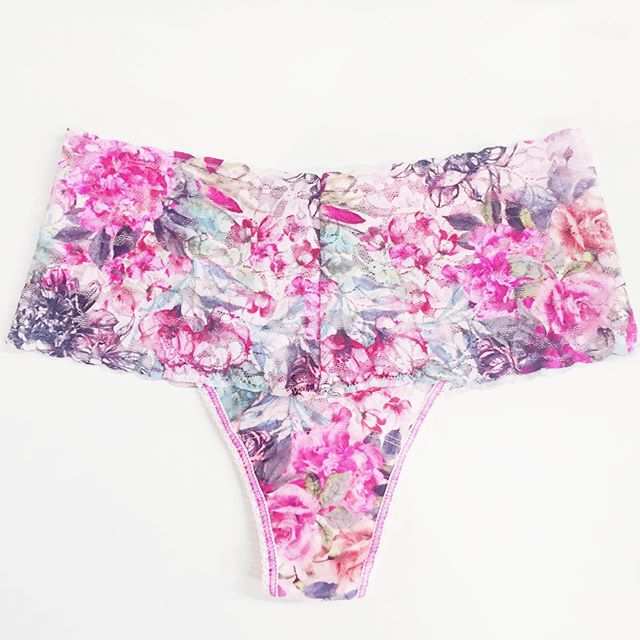 New Hanky Panky prints in store now 🌹🌸🌷 Just in time for Valentine's Day, this floral print is available in low, regular, and retro rise 💕