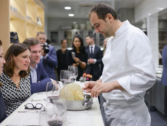 Chef Daniel Humm in The Restaurant at Meadowood
