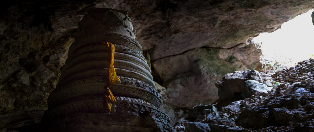A structure with ties to Buddhism lies inside a hidden cave at Phra Nakhon Khiri Historic Park.