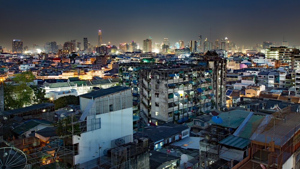 Bangkok's skyline from Chinatown.
