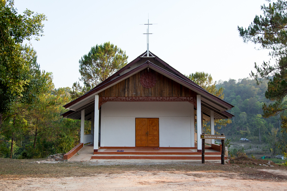 The village church. Surprisingly, most of the villagers are Christian. However, many of them still believe in ghosts, which are an integral part of Thai culture.