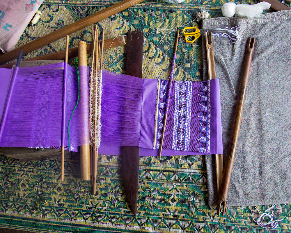 The tools used to weave cloth.