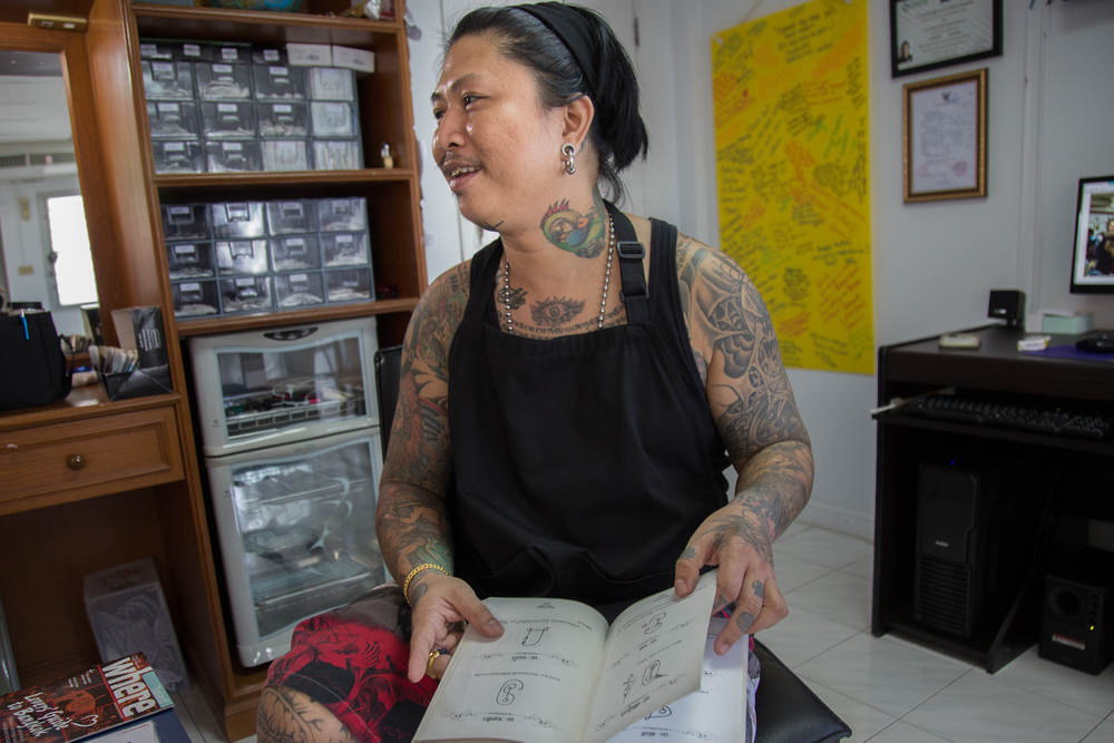 Krit is the owner of Thai Bamboo Tattoo and a tattoo artist.