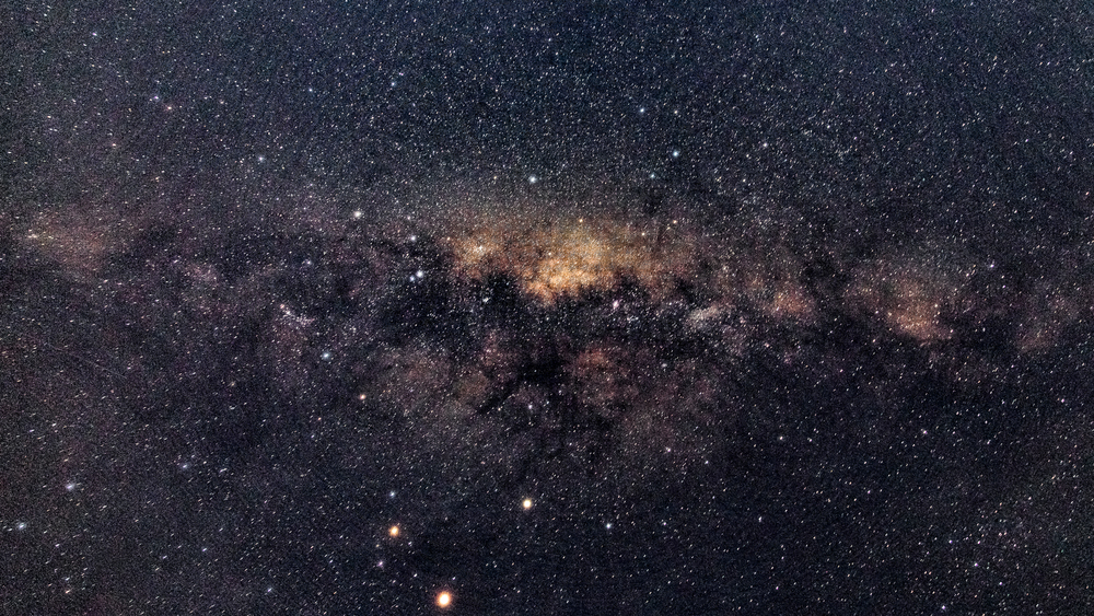 The sky is so dark over Ijen's crater that it's possible to see the Milky Way.