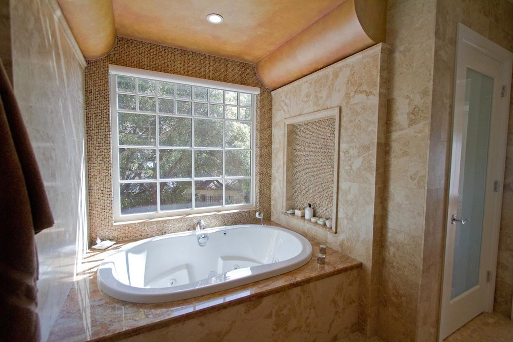 Polished Marble Master Bath
