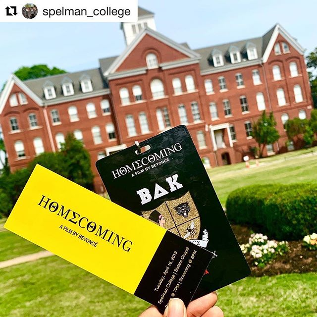 #Repost @spelman_college ・・・ Thanks to @Beyonce and @netflix, the Spelman community was among the first in the world to view #Homecoming last night in Sisters Chapel! Our students sang, danced, cried and cheered as they viewed the film in awe. Today, like every day, we celebrate the excellence, power and necessity of the #HBCU experience!