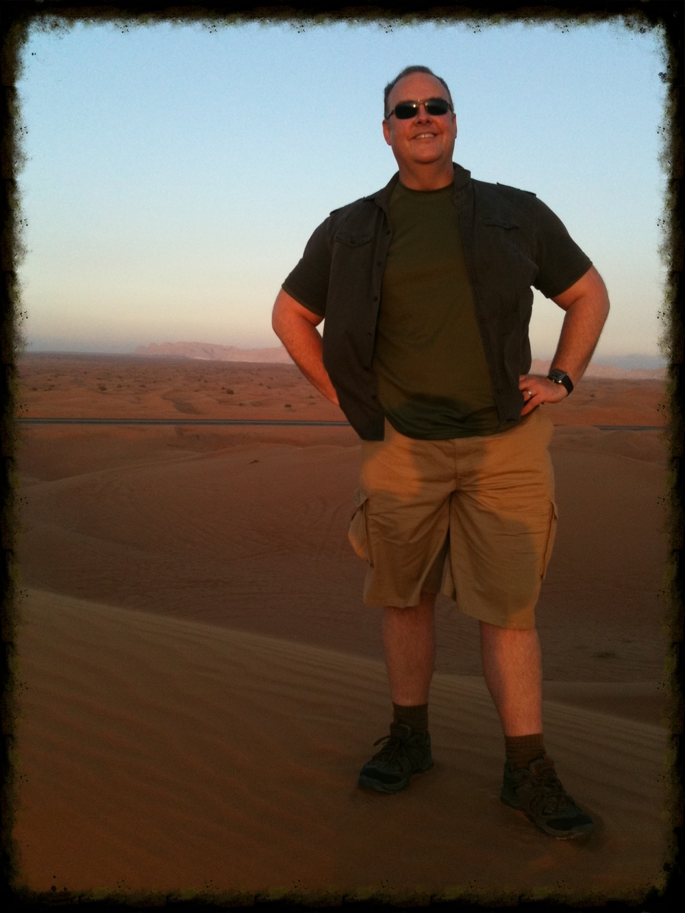A perk of the job was the global travel. This is the desert outside of Dubai.