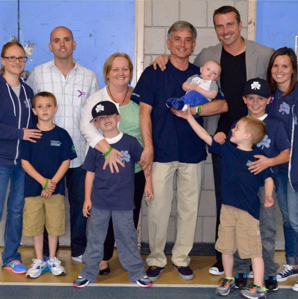 The Harrington Family with Chris Herren.