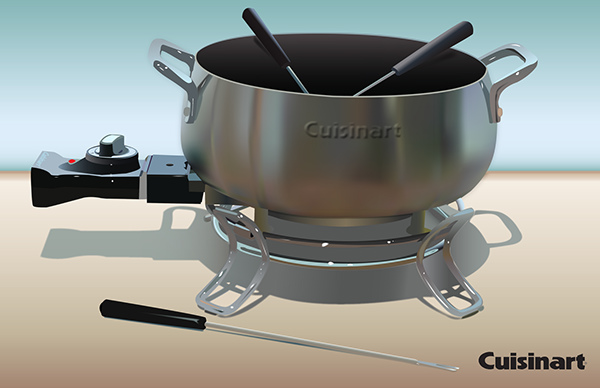 Gradient Mesh - Fondue Pot