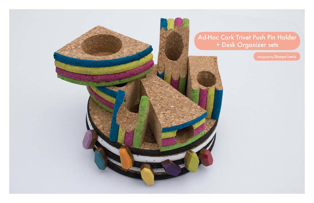 Cork Trivet Desk Organizer sets - DIY ad-hoc design