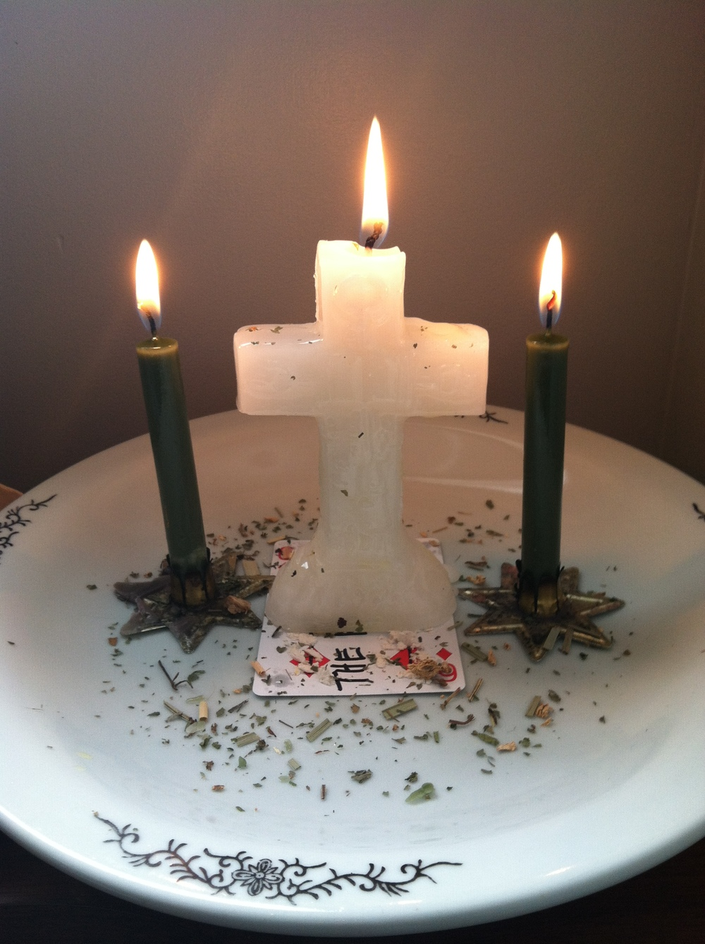 Candle spell to help a client find employment