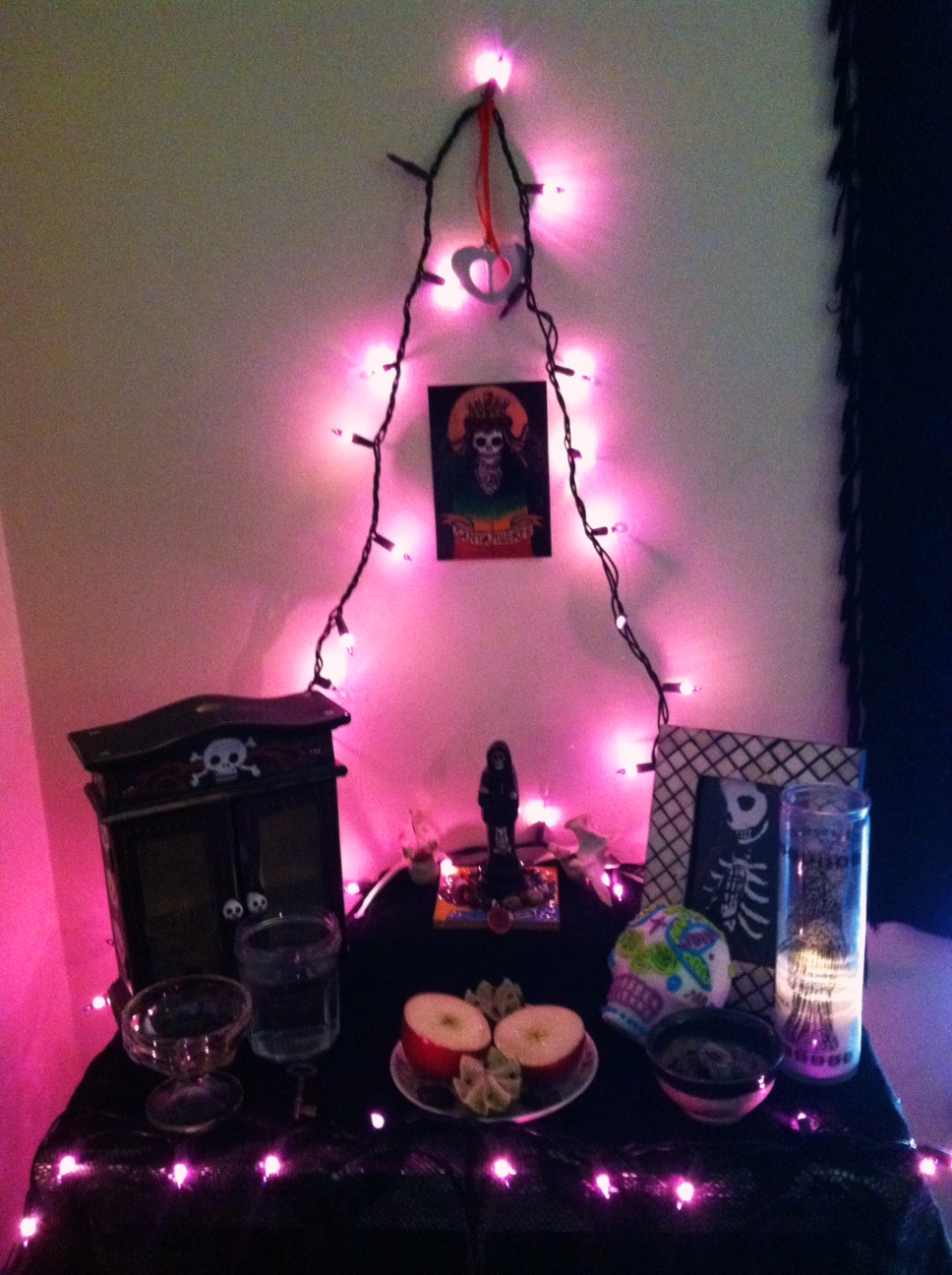 Offering to La Santisima Muerte