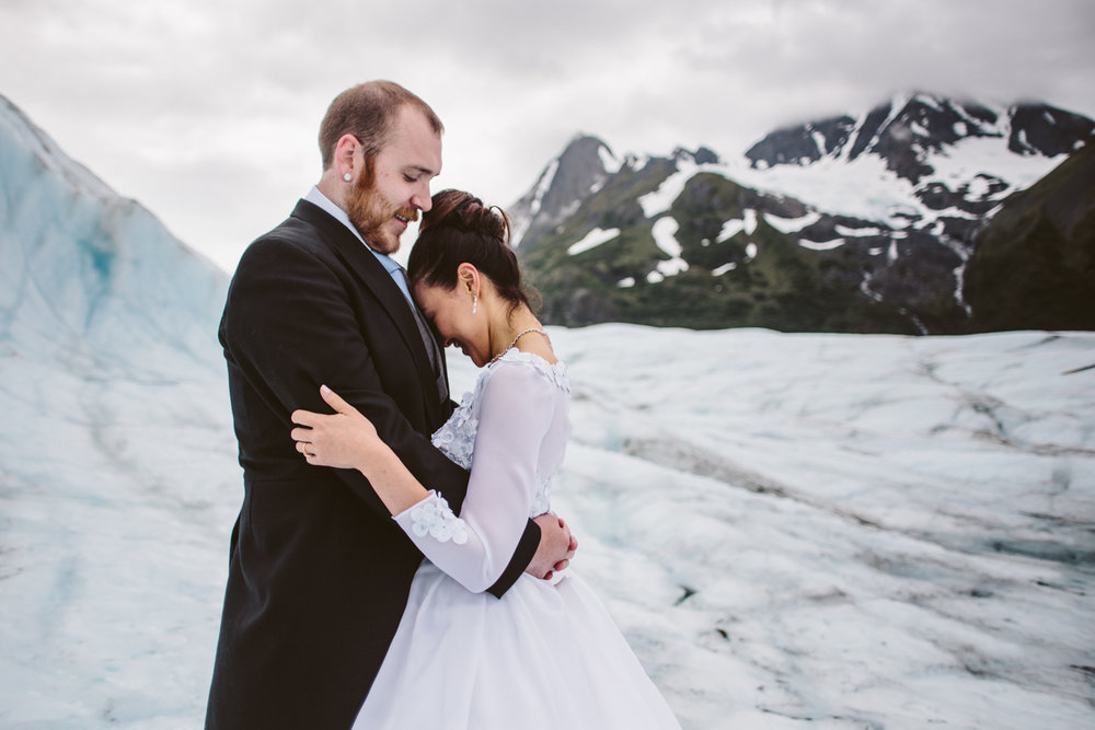Alaskan Glacier Wedding Photos
