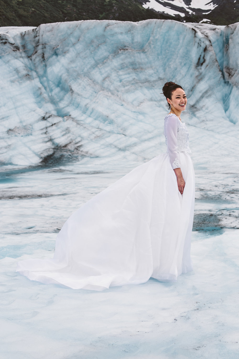 Glacier Bridal Photos
