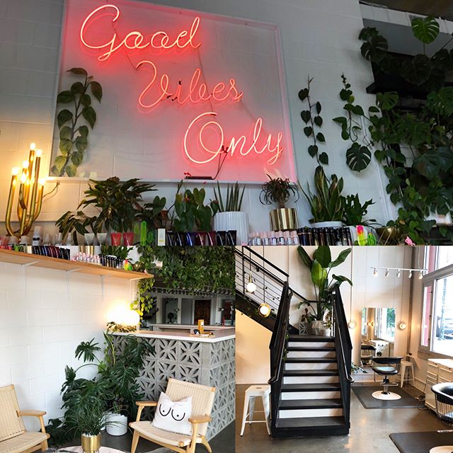 Take a peek at our magical salon! Not pictured: 4,365,950 plants to have Mama Nature close by and keep the air nice and fresh! 🌹 . . . #ceremonyportland #pdxsalon #getyourhairdid #pdxsmallbusiness #goodvibesonly @randco  @oribe @nobeltruong @erictrine @coldpicnic @livanddom @cb2 @fredsegal @jonathanadler @tomdixonstudio @westelm