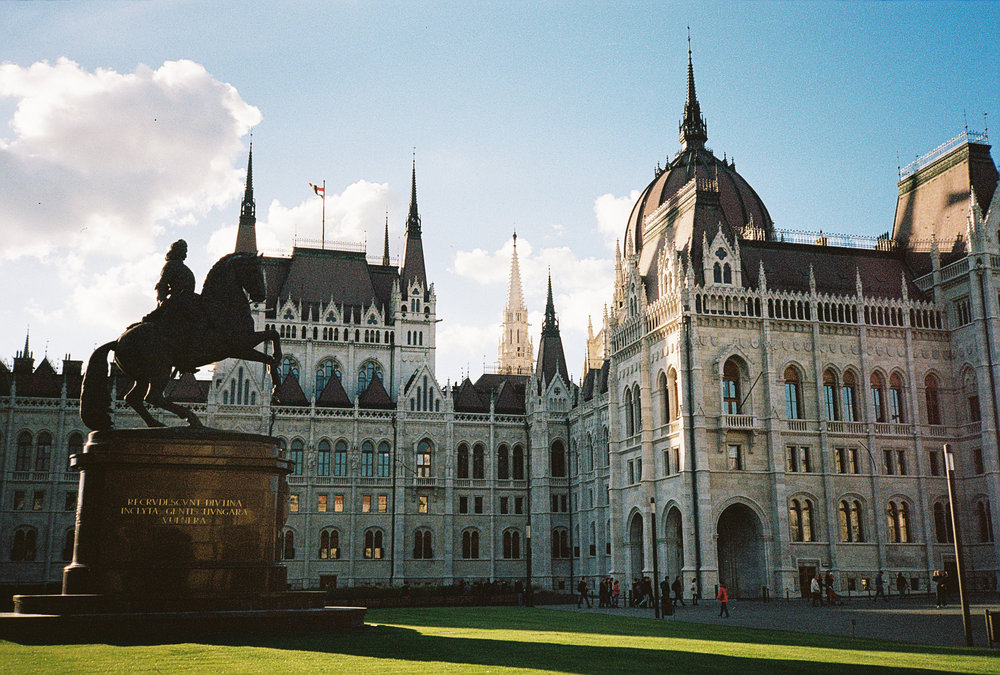 Hungarian Parliament Building in Budapest.