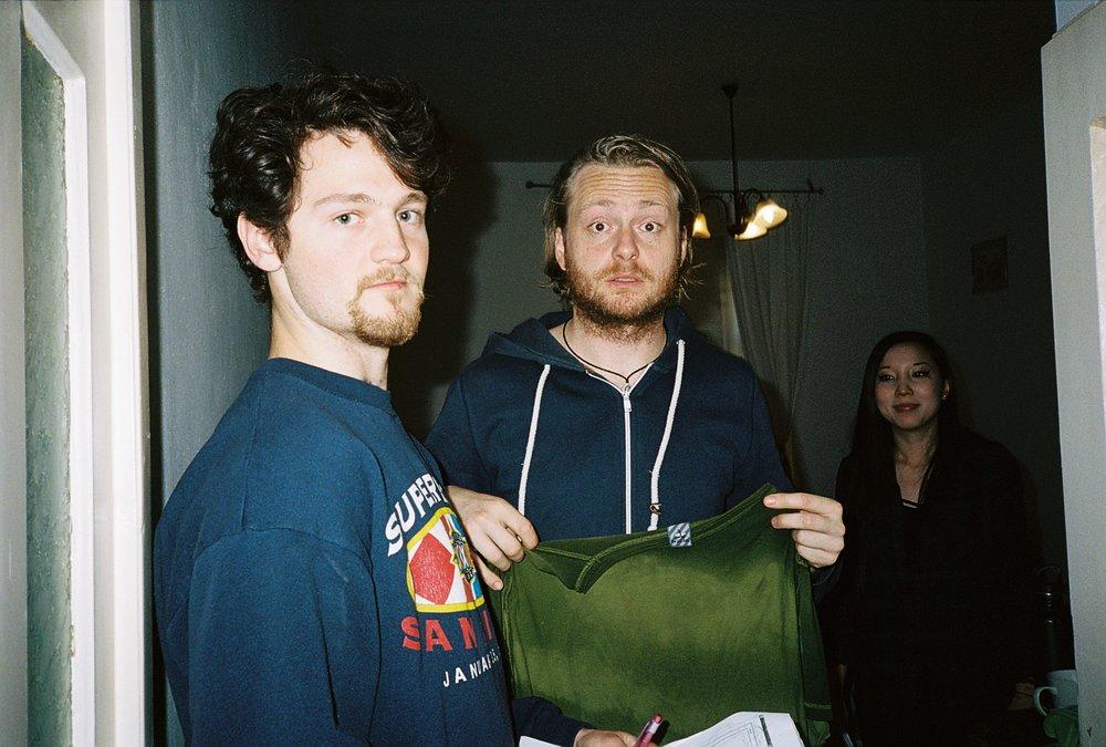 Director Ben and actor Ondrej Pech.