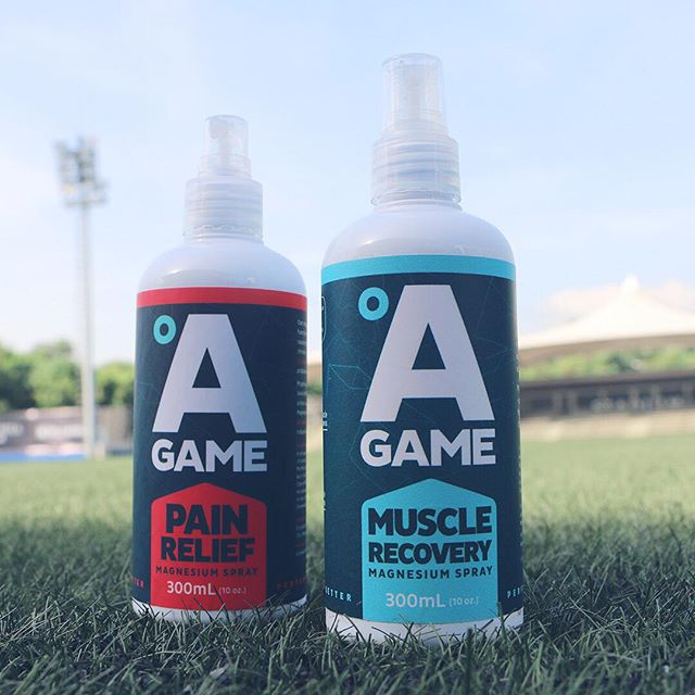 We have worked closely with hundreds of athletes over the last two years and over 95% of them have reported that by using A-Game regularly after their trainings and games, they have felt their recovery improve, thus leading to better performances. Find out for yourself how we help you #BringYourAGame (SWIPE LEFT TO LEARN MORE) ⠀⠀⠀⠀⠀⠀⠀⠀⠀ A-Game MUSCLE RECOVERY Magnesium Spray Our muscles need Magnesium to recover and function smoothly. Magnesium deficiency can cause muscle tension and cramps. Prevent this by applying A-Game MUSCLE RECOVERY Magnesium Spray on tired muscles after every workout, physical activity and before sleep. Magnesium helps reduce lactic acid build-up in muscles, which is partly responsible for post-exercise pain, known as DOMS (Delayed Onset Muscle Soreness). ⠀⠀⠀⠀⠀⠀⠀⠀⠀ ⠀⠀⠀⠀⠀⠀⠀⠀⠀ A-Game PAIN RELIEF Magnesium Spray Our muscles need Magnesium to recover and function smoothly. Magnesium deficiency can cause muscle soreness, neck pain, back pain and chronic joint pain. Prevent this by applying A-Game PAIN RELIEF Magnesium Spray on problem areas for effective pain relief. Magnesium plays a key role in controlling the level of inflammation in our body to help relieve aches and pain. Our A-Game PAIN RELIEF Magnesium Spray is also formulated with Ginger Oil and other essential oils that are known to reduce inflammation.