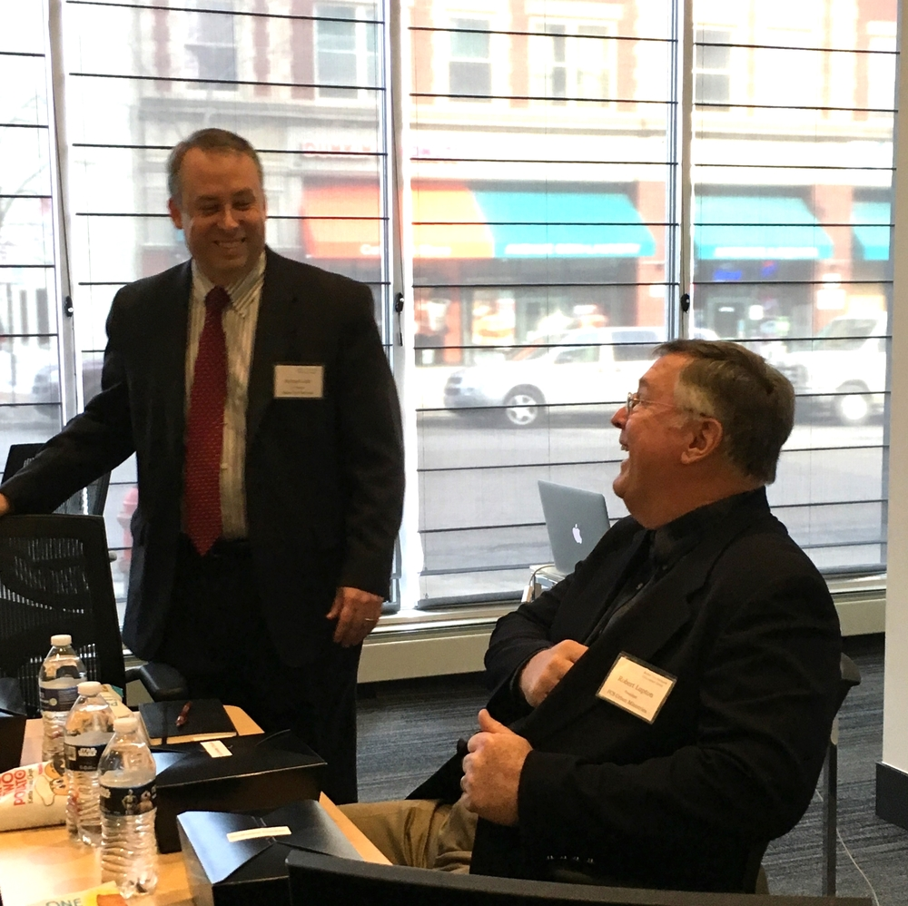 Author Bob Lupton and Better Yes Network co-founder Michael Jahr share a laugh.