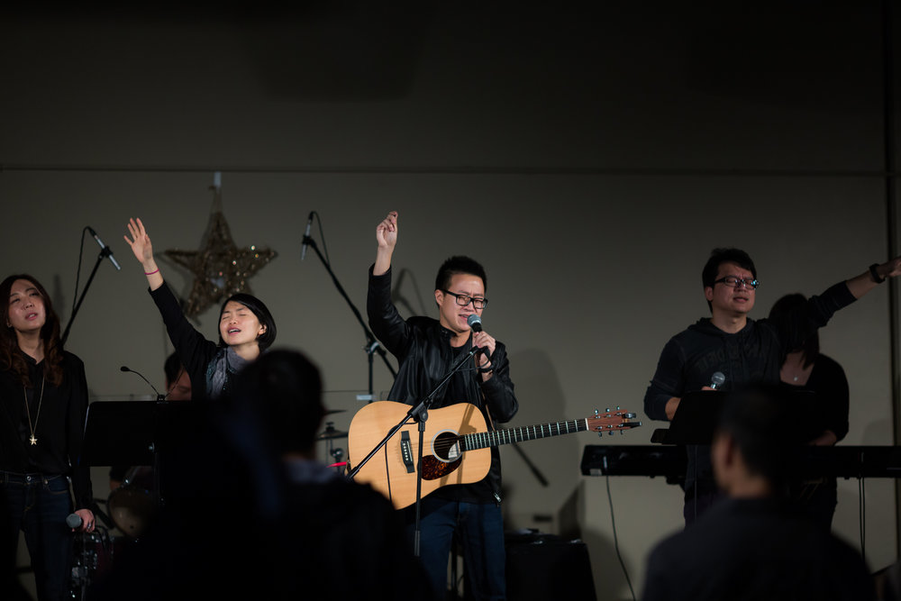 Worship Leaders Leading Songs at EFCI 1.5 Generation